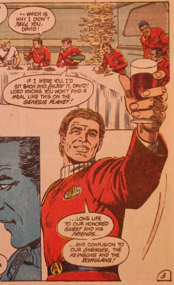 DC Comics Star Trek Issue 6 - Kirk's Awkward Toast