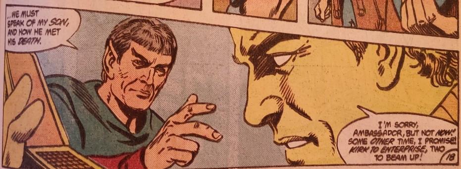 DC Comics Star Trek Issue 6 - Sarek Talks To Kirk
