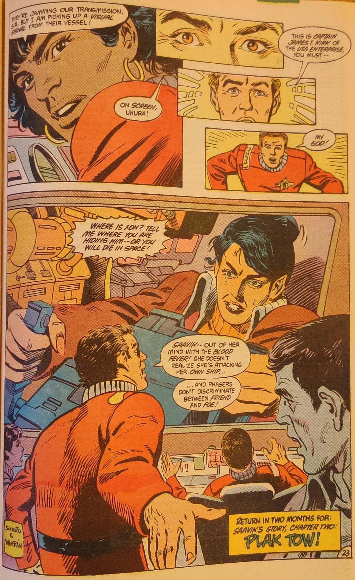 DC Comics Star Trek Issue 6 - Thirsty Saavik Rage Phasers