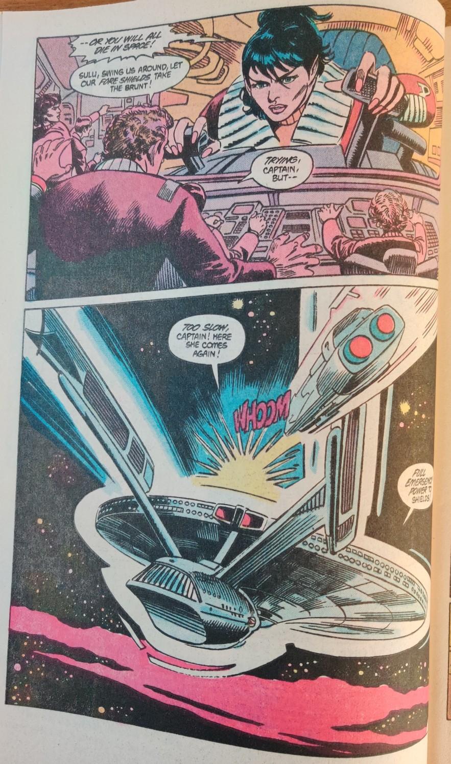 DC Comics Star Trek Issue 8 - Saavik Battle