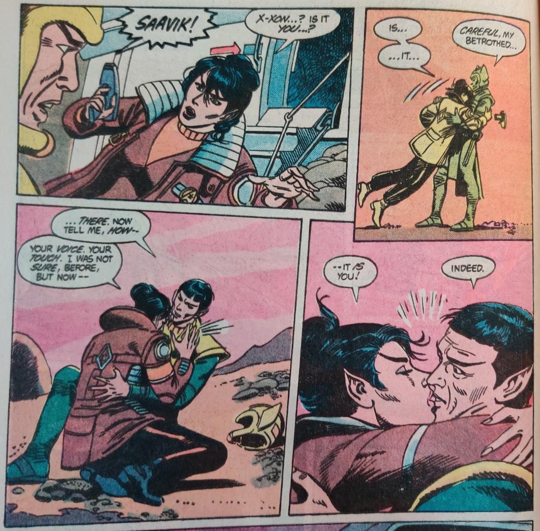 DC Comics Star Trek Issue 8 - Sex hair Saavik macks on Xon
